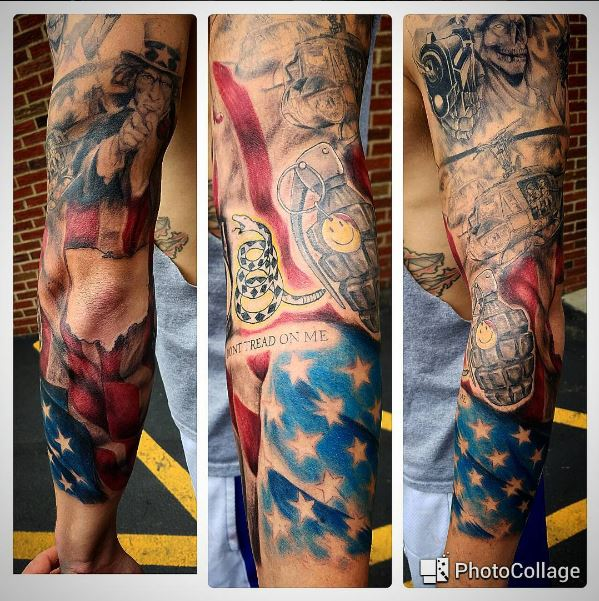 patriotic sleeve