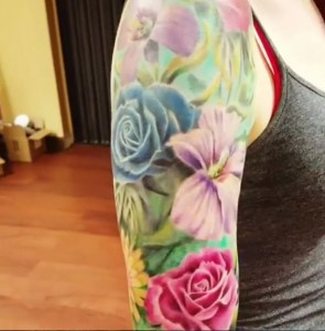 Floral Sleeve Color